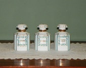 Ask for 30% off! Vintage Lefton Dresser SET BOTTLES Perfumes Extremely Rare Deco style Blue Rhinestones Lotion Cologne Bath Salts