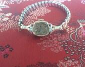 RESERVED 4 JUN Stunning Art Deco BULOVA 14K Solid Rose Gold 4 Rubies 2 diamonds Ladies Watch Serviced Look