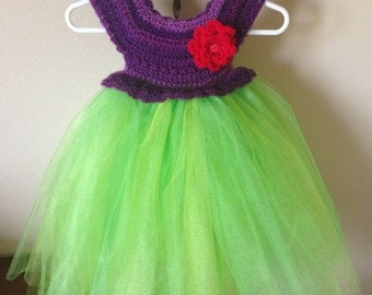 Crochet Tutu Dress - Mermaid