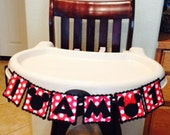 Mickey or Minnie Mouse High Chair Banner