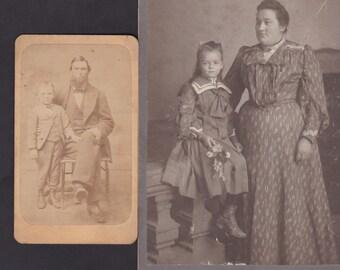 Parent & Child - Antique Photographs - Lot of 4
