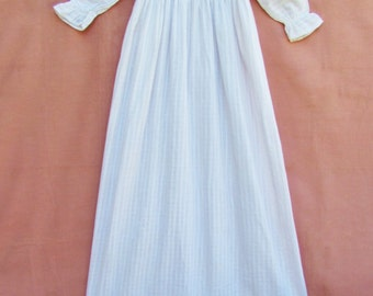 Antique long baby dress, c.1900 lace-trimmed infant dress, Victorian christening gown