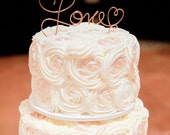 Love Cake Topper, Pick Your Size & Color