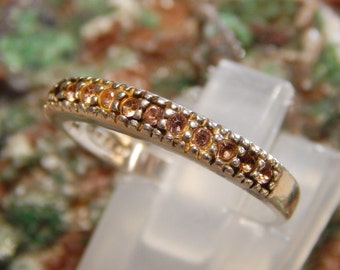 Sterling Pink Rhinestone Avon Ring
