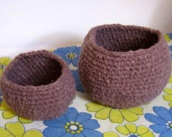 SALE ~ Linen Cotton Nesting Bowls