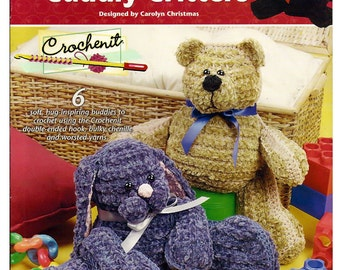 Easy Cuddly Critters Crochenit  Pattern Book  / Annies Attic 873253