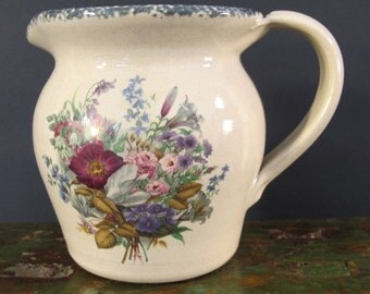 Vintage 90's Casey Pottery small country pitcher