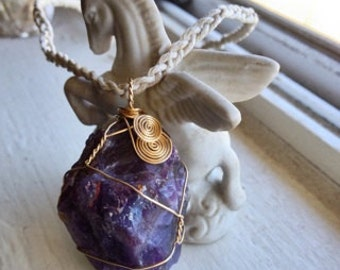 Place an Order for an Embellished Rose Gold or Gold Filled Wire-Wrapped Healing Crystal (Pendant or Charm)