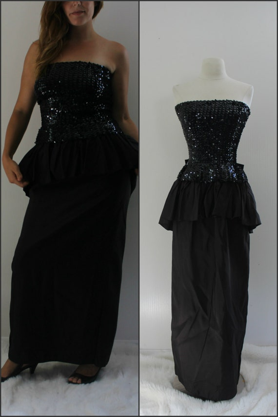 1980s long formal prom dress by ChippedGREENchair on Etsy