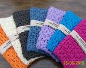 WASHCLOTH -100% COTTON, crochet washcloth handmade, eco-friendly washcloth, spa bath, bath & beauty, skin care, body care, cotton washcloths