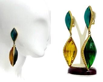 Vintage Runway Jean Louis Scherrer Gripoix Earrings
