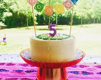 Papel Picado Cake Topper