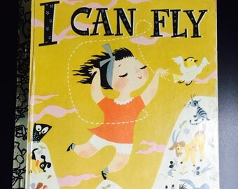 Vintage I CAN FLY a reissued 50th Anniversary Little Golden Book 1979