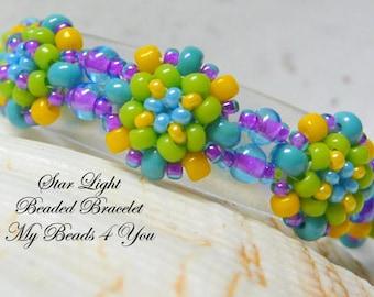 Beaded Bracelet, Seed Bead Bracelet, Beadwork Bracelet, Embellished Bracelet, Beadwoven Bracelet, Beaded Bead Bracelet