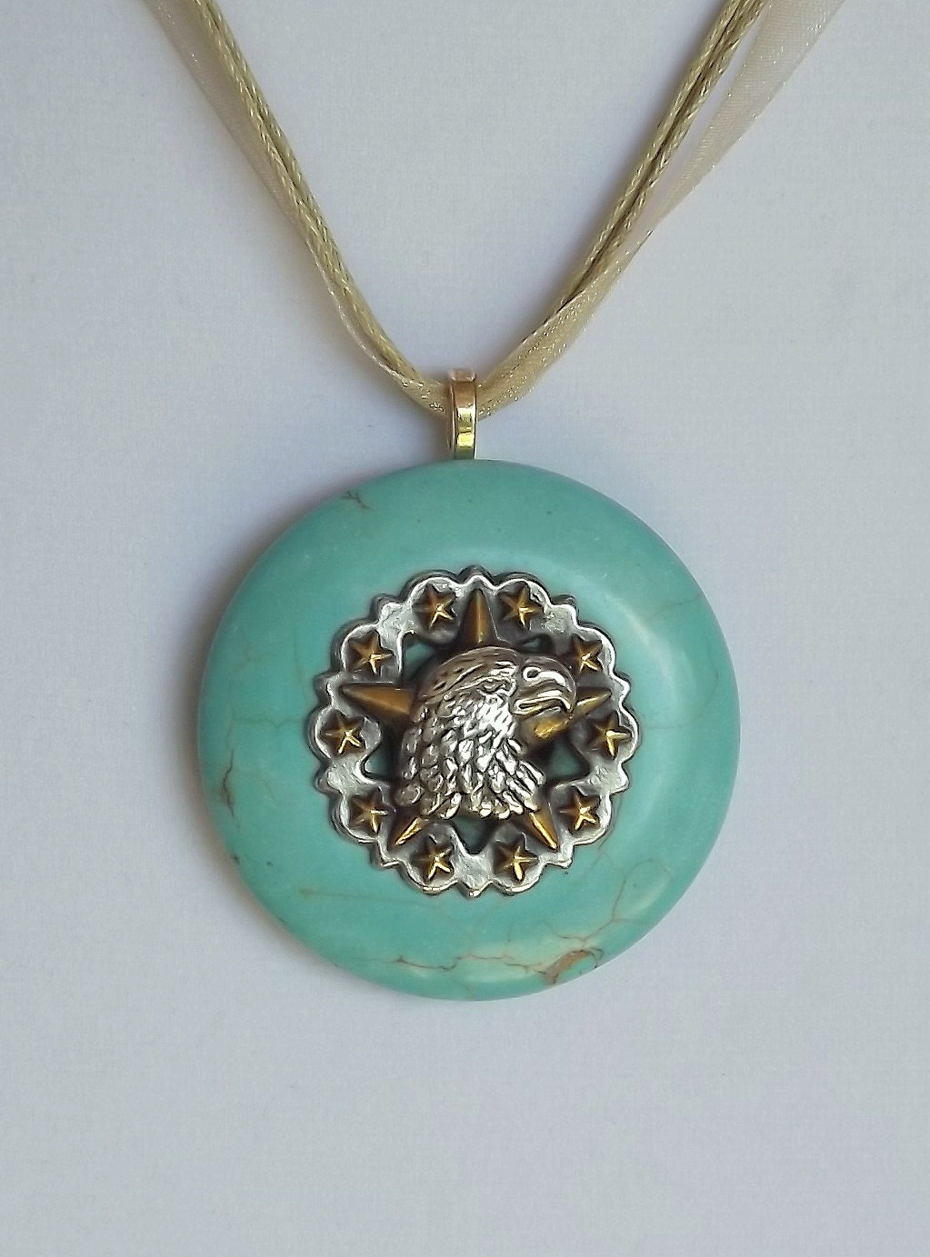 american eagle necklace eagle pendant turquoise