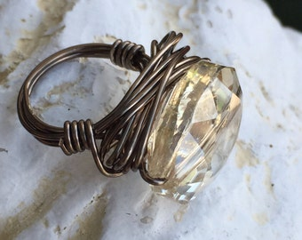 Bronze wire wrapped ring