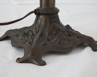 Miller Lamp Co Art Nouveau Bronze Table or Desk Lamp