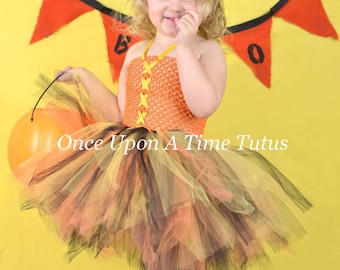 Candy Corn Witch Inspired Tutu Dress - Black Orange Yellow Halloween Pageant  Girls Size Baby 3 6 9 12 18 Months 12m 2t 3t 4t 5t 6 7 8 10 12