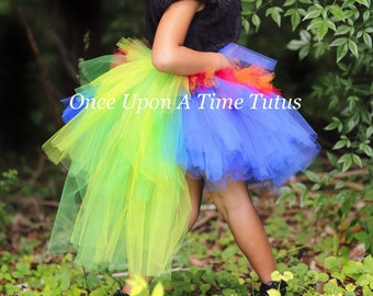 Lorikeet Bustle Tutu - Girls Sizes 0 6 9 12 18 Months 2T 3T 4T 5T 6 7 8 10 12 14 Adult Ladies Women Teen - Exotic Bird Halloween Costume