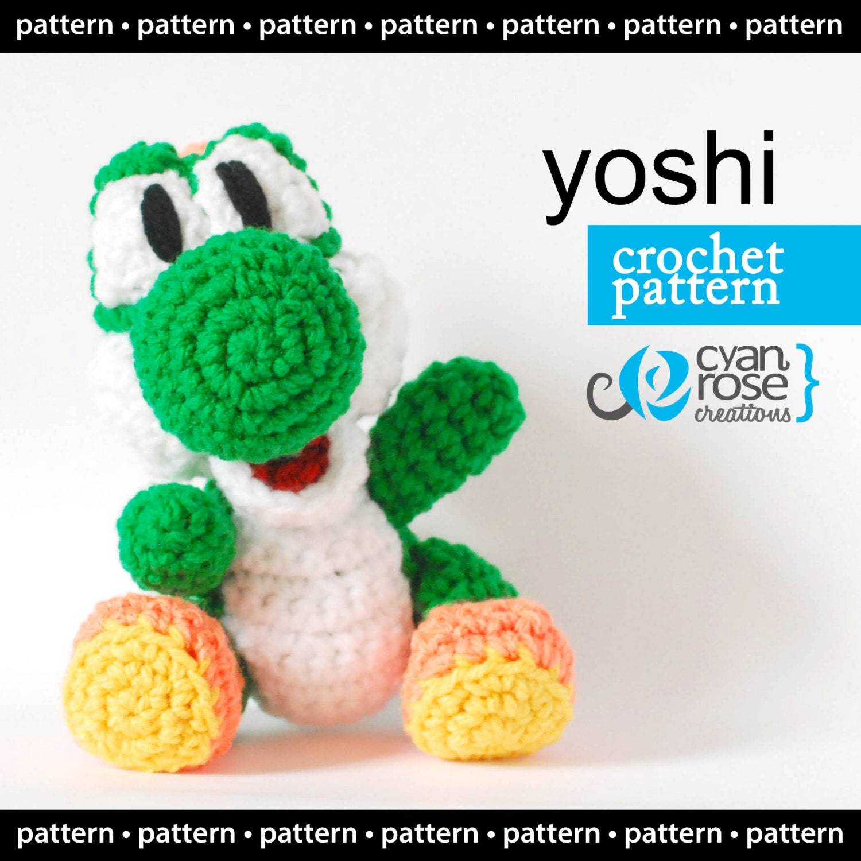 Amigurumi Yoshi Big : Yoshi Crochet Pattern Instant Download Yoshi from Woolly