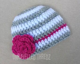 Newborn Photo Prop Hat, Baby Girl Hat, Baby Flower Hat, Newborn Girl Hat