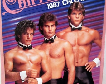 Vintage Chippendales 1987 Calendar Sexy Hunky Men !