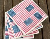 American Flag Coasters - Set of 4 - water resistant