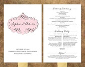 Printable Program Fan -- French Vintage No. 3 Collection