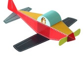 Plane Paper Toy - DIY Paper Craft Kit - 3D Paper Toy - Action Toy