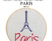 PARIS EIFFEL TOWER - Home Decor Counted Cross Stitch Pattern pdf - Plus Free Bonuses - Instant Download