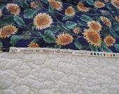 Sunflower fabric print  Hoffman International Fabrics