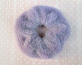 Fuzzy Purple Scrunchies - 90s Pastel Grunge Purple Scrunchie - Fluffy Hair Ties - Ponytail Holder - Kawaii Scrunchy - Lilac Furry Hair Band