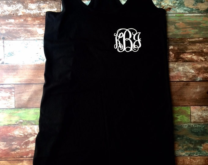Monogrammed Swimsuit Coverup, Monogram Tank Dress, Monogrammed Dress, Bridesmaid Gifts, Monogrammed Gifts