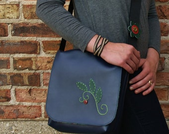 SALE Messenger Bag for Women Purse Satchel  Rain Forest Blue Green