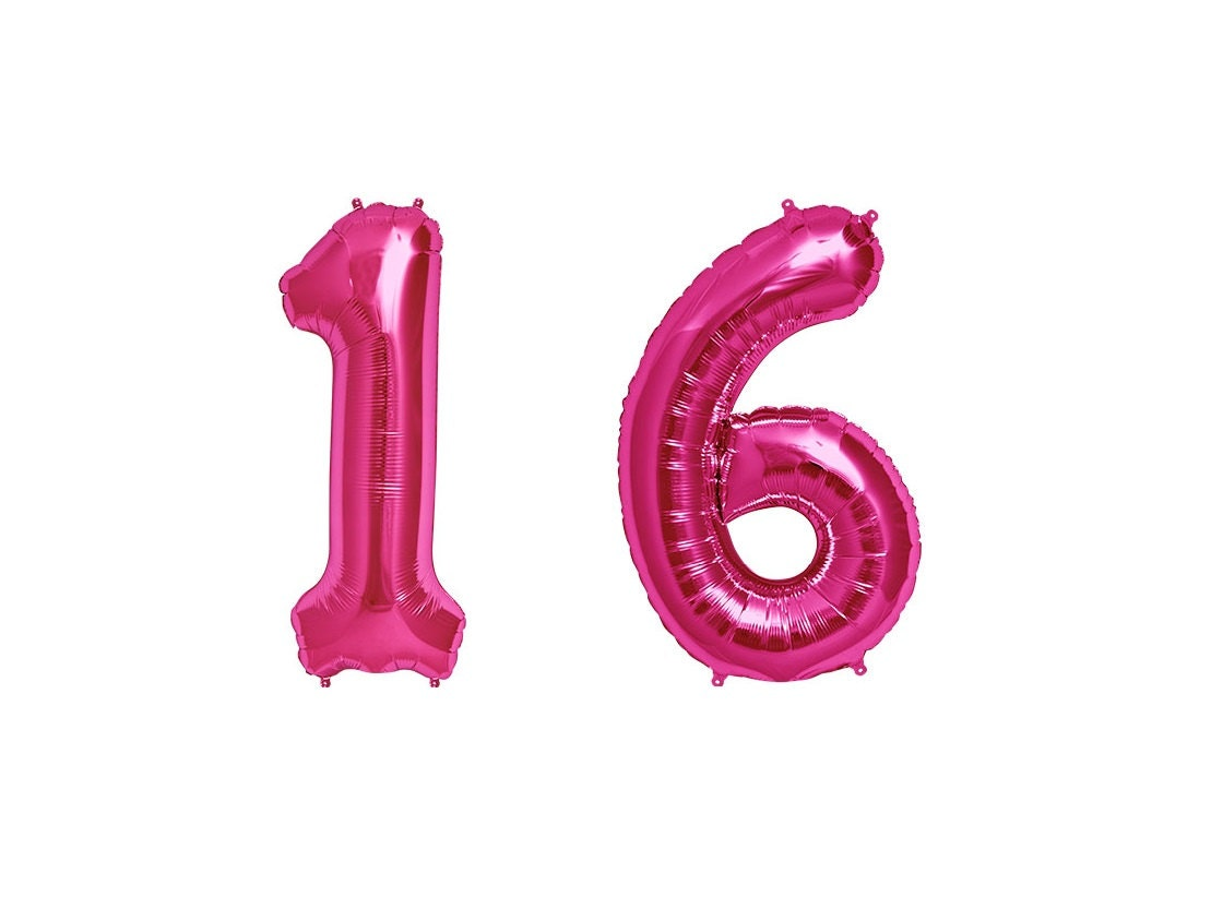Pink Number 16   www.imgkid.com - The Image Kid Has It!