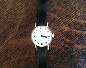 1960s Asprey of London 17 Jewels Swiss Made Gold Plated Ladies Wrist Watch