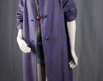 Purple Coat Winter Jacket Fall Jacket Vintage womens coat jacket size L Large