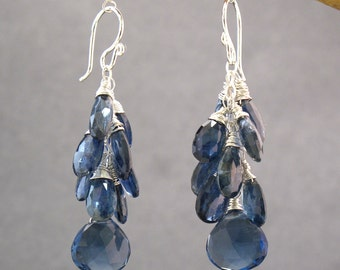 Kyanite and Blue Topaz drop earrings Princess 63
