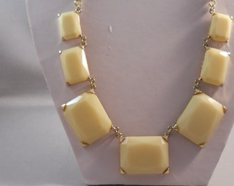 SALE gold Tone and Yellow Pendant Chain Necklace