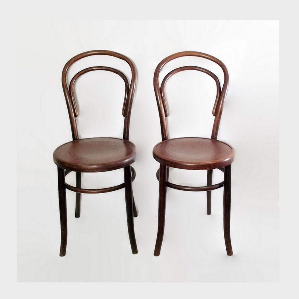 Antique fischel bentwood chairs cafe bistro by citybeepster