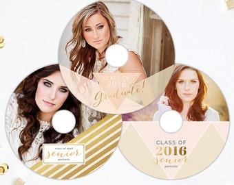 CD Template, dvd template, Millers Lab Custom Printed Premium dvd, WHCC Printed DVD, Senior Templates, Photography Templates - cdvds117