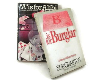 1980s Sue Grafton Alphabet Mystery Books 1st Book Club Editions A is for Alibi B is for Burglar