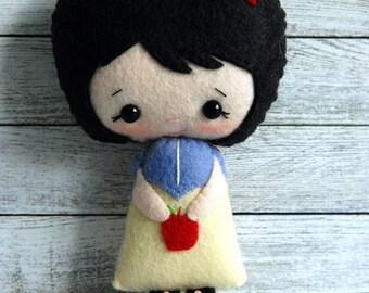Felt Doll - Snow White - Gingermelon Design