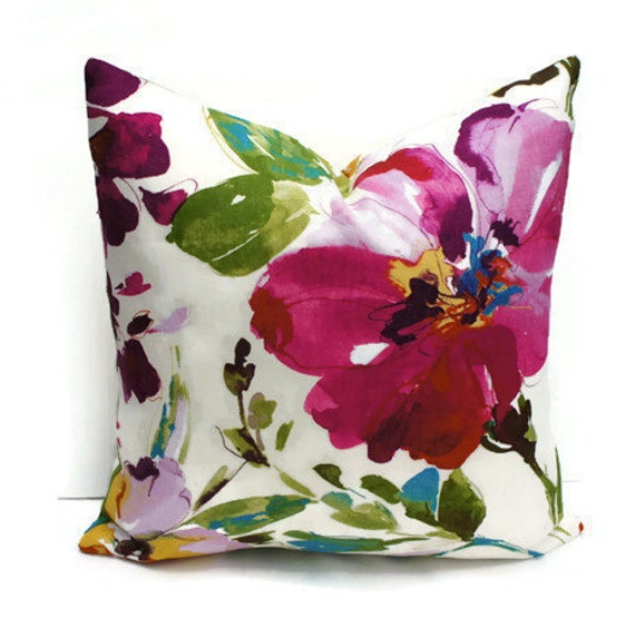 Throw Pillows With Large Flowers : Floral Pillow Cover Colourful Floral Pillow Decorative