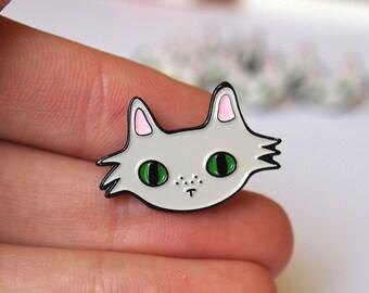 Enamel cat lapel pin - enamel pin - lapel pin - I like cats - Cats - cat pin - enamel cat pin - enamel cat brooch - cat brooch - cat gifts