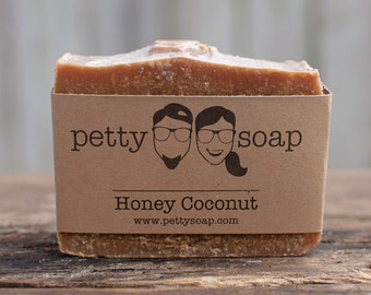 Honey Coconut Soap - Cold Process Soap, All Natural Soap, Handmade Soap, Unscented Soap