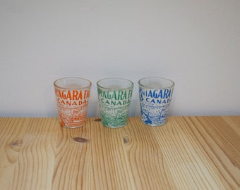 Vintage shot glasses Niagara Falls Canada