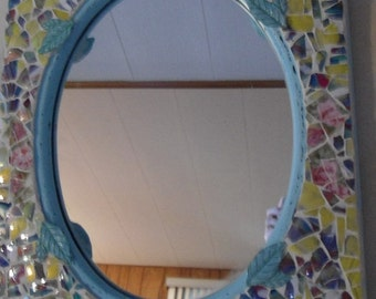 SOLD...I can make something similar for you!  Mosaic Mirror / Piece Made
