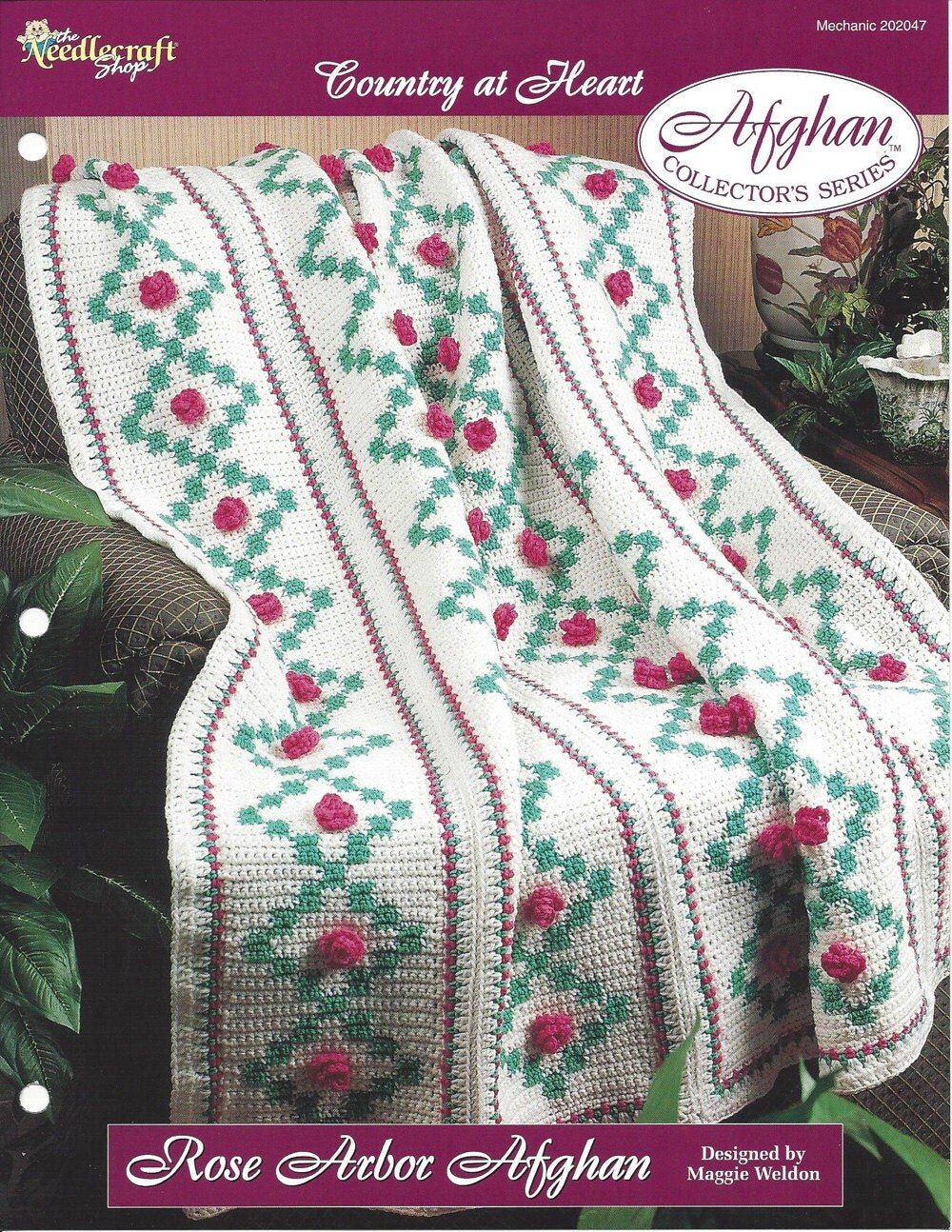 Rose Arbor Afghan Crochet Pattern Afghan Collectors Series The