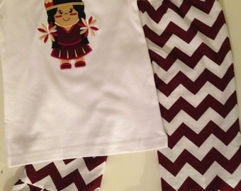 Indian Maroon and White Ruffle Pants Outfit Sizes 12 months to girls size 6